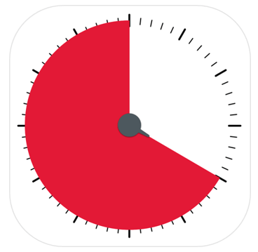 Time Timer app logo A simple visual timer, to create and save timers for tasks you do everyday, as well as one off timers.
