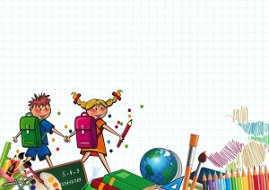 animation of young school kids