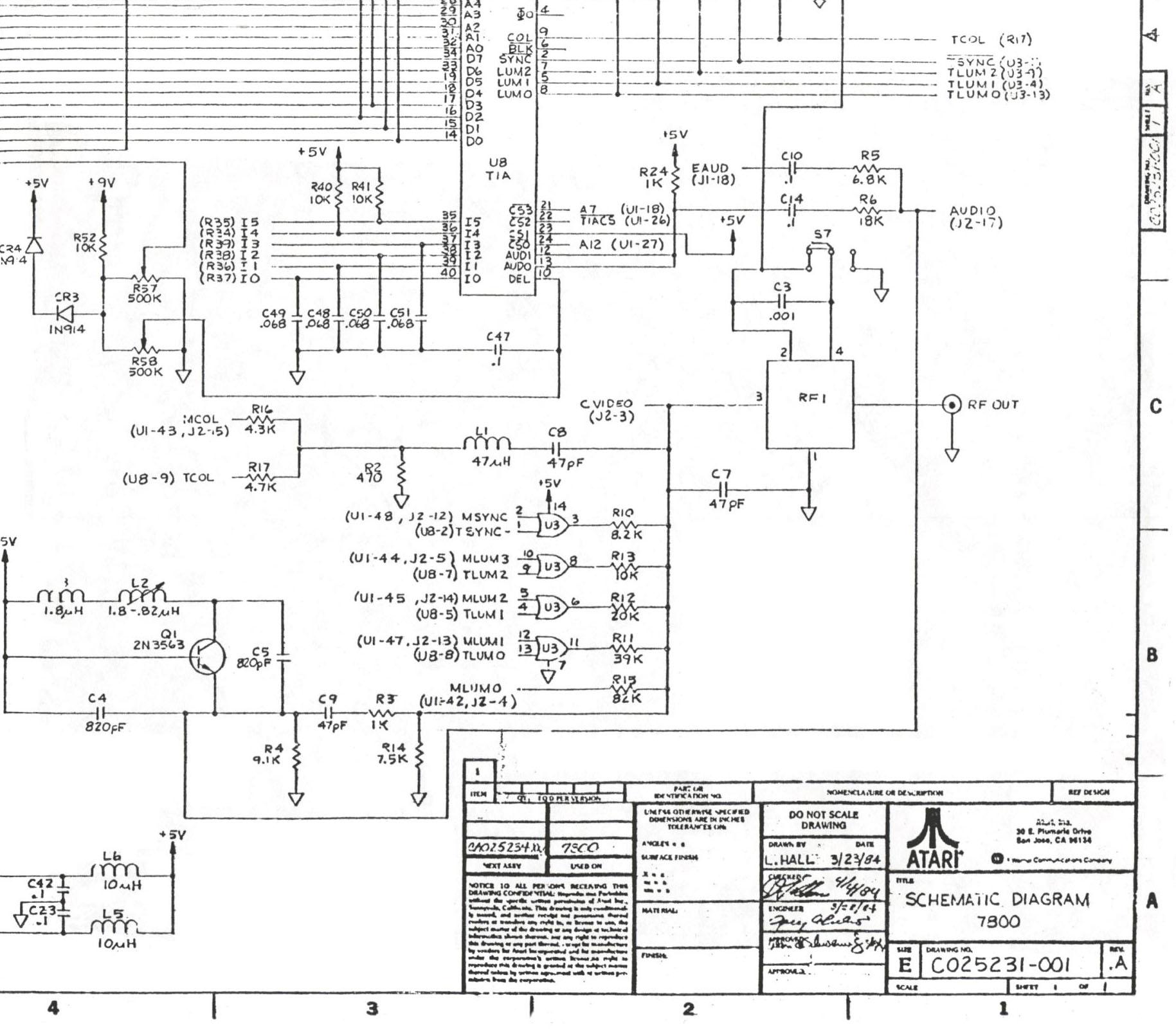 Atari schematics schematic