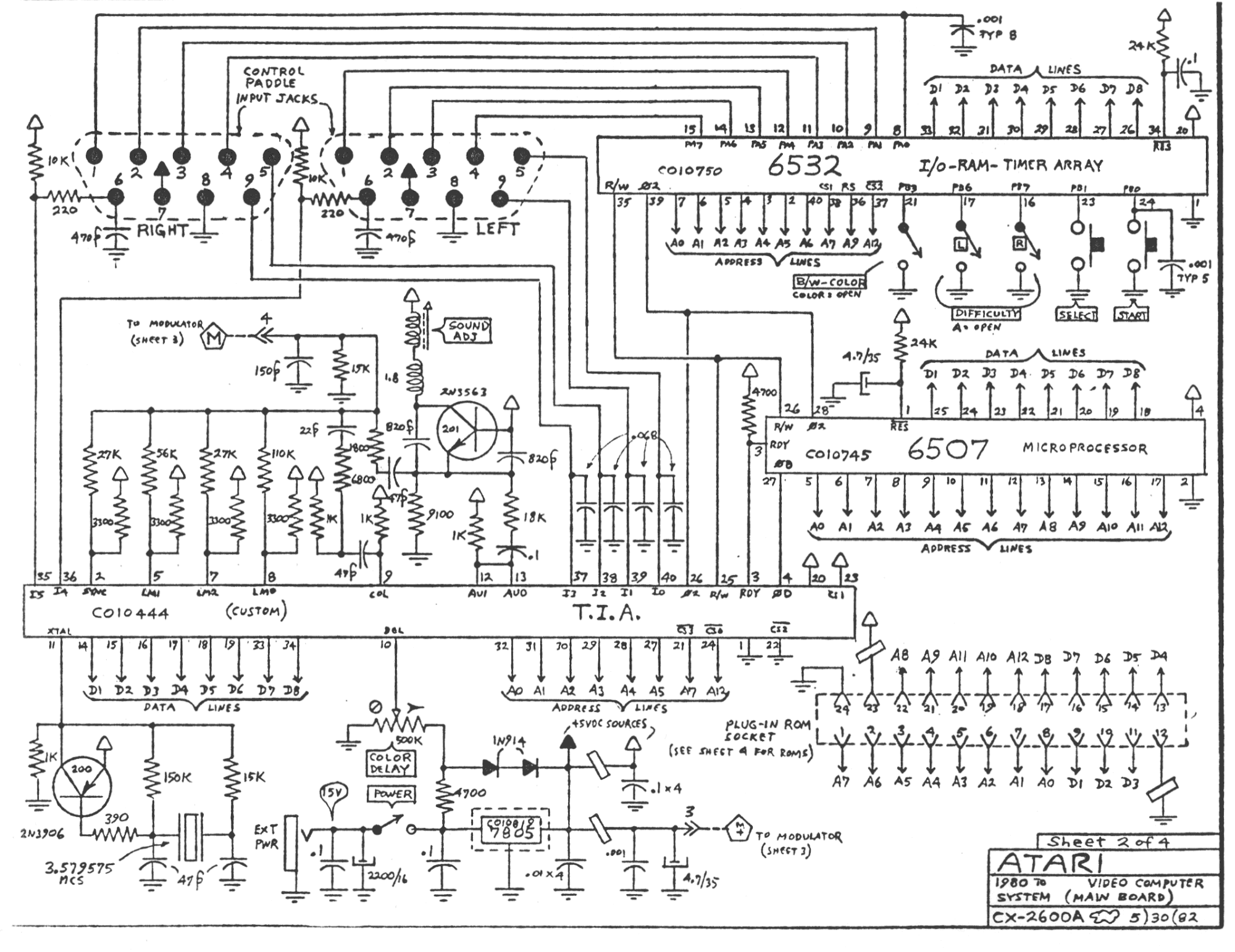 Atari Cx A Schematic