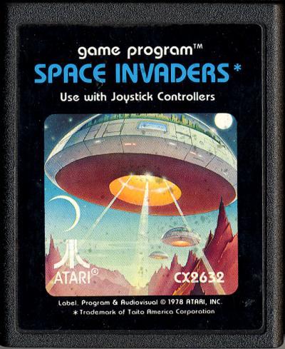 Space Invaders Atari Cartridge