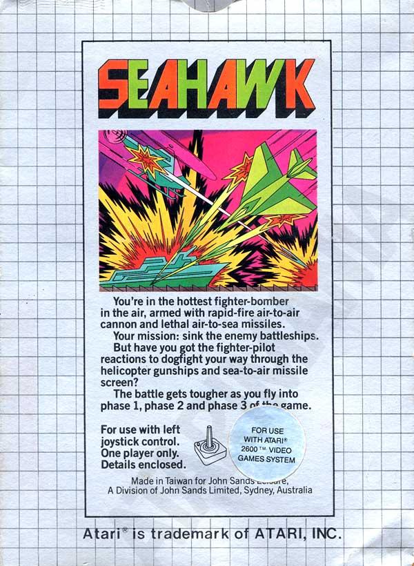 Atari 2600 VCS Seahawk Scans Dump Download