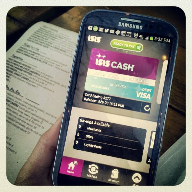 AT&T, Isis mobile wallet, Samsung galaxy SIII