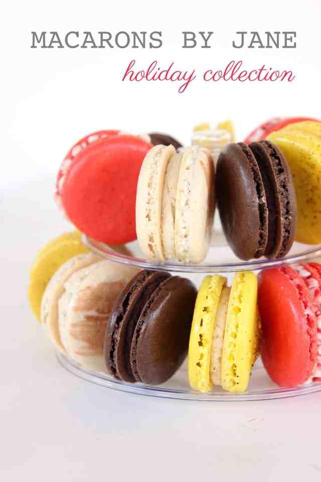 'macarons' 'holiday macarons' 'christmas macarons' 'eggnog macarons 'candy cane macarons' 'hot chocolate macarons' 'gingerbread macarons' 'mini macaron tower'