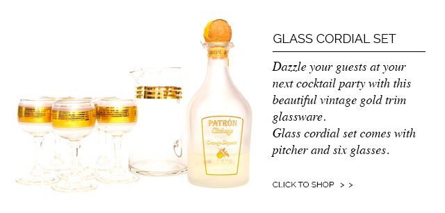 Glass Cordial Set