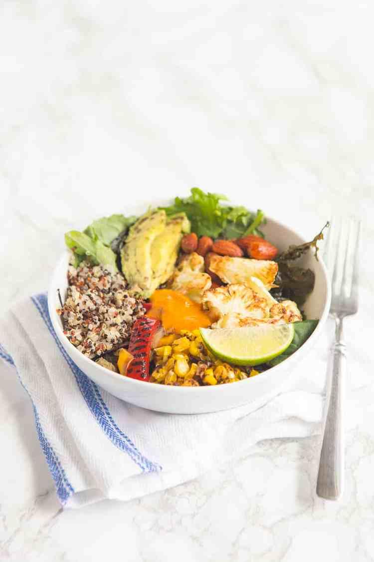 Roasted Veggie Quinoa Bowl