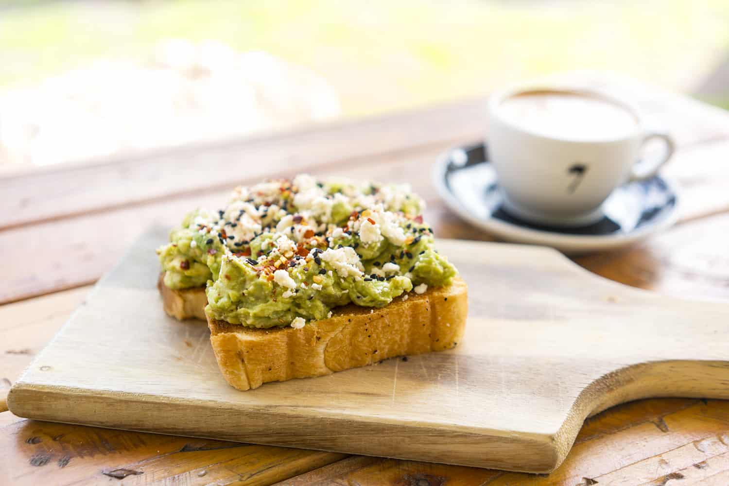 Avocado Toast at Seventh Flag Coffee