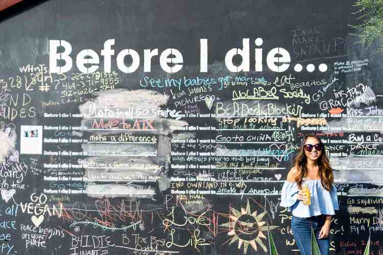 Before I Die Mural in Austin