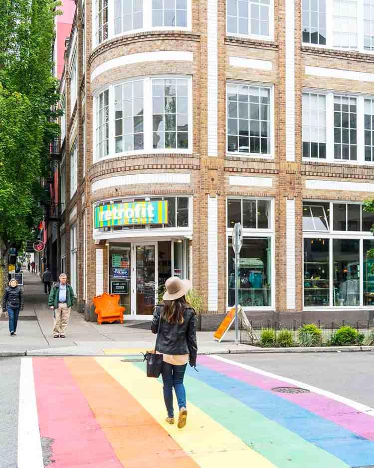 Capitol Hill Rainbow Crosswalks