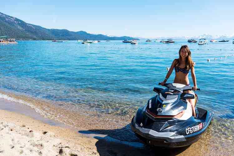 Jet Ski On Lake Tahoe