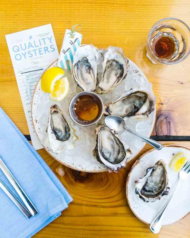 Oysters at Westward Restaurant
