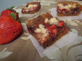 Strawberry Nutella Bars