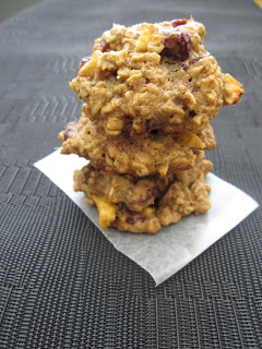 Apple Cranberry Oatmeal Cookies