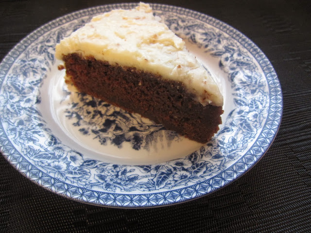 Moist Chocolate Cake with Coconut Cream Cheese Frosting