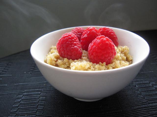 Raspberry Quinoa Porridge