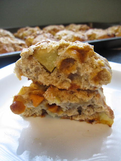 Apple and Butterscotch Scones