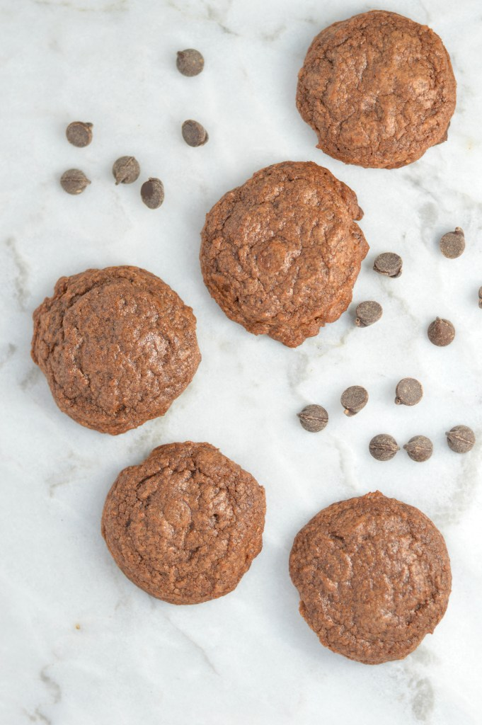 Chewy Double Chocolate Brownie Cookies that are so soft on the inside. They make a great quick and easy dessert or snack recipe.