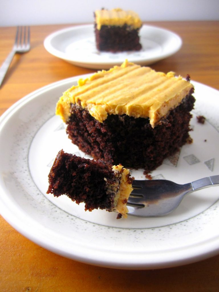 Whole Wheat Chocolate Cake with Orange Frosting   A Taste of