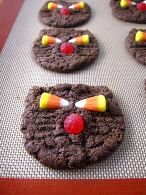 Whole Wheat Black Cat Cookies