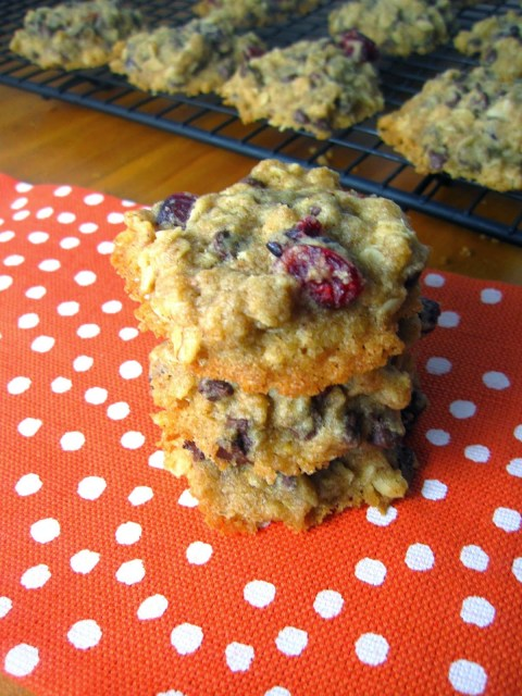 Cranberry Oatmeal Chocolate Chip Cookies