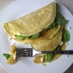 Whole Wheat Spinach and Feta Crepes