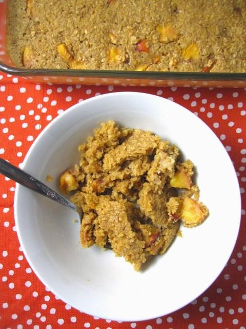 Ginger Nectarine Baked Oatmeal
