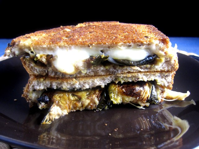 Roasted Zucchini Grilled Cheese Sandwich