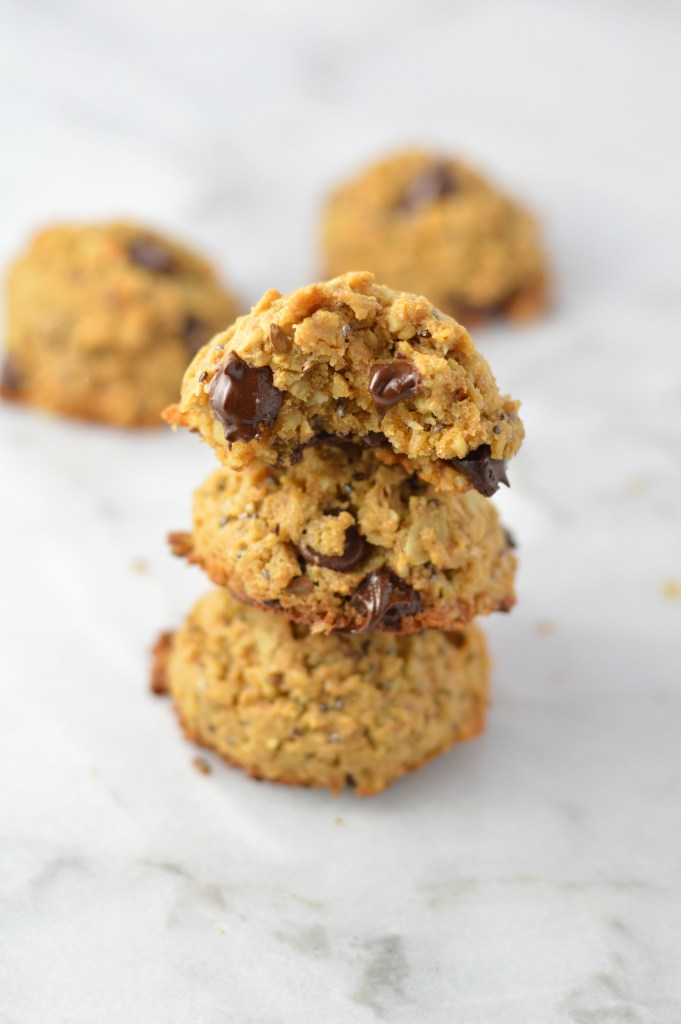 TheseChia Seed Peanut Butter Oatmeal Cookies are my go-to grab and go breakfast. Made with oats and made decadent with the addition of chocolate chips.