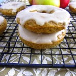 Brown Butter Baked Apple Doughnuts with Brown Butter Icing