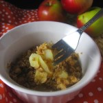5 Minute Apple Crisp for One