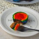 Mini Rainbow Cheesecakes