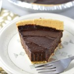 Vegan Chocolate, Peanut Butter and Avocado Pie