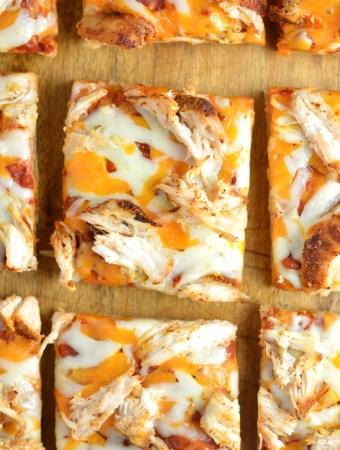Leftover Chicken Flatbread Pizza