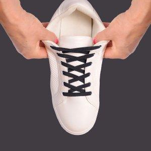 Black elastic laces