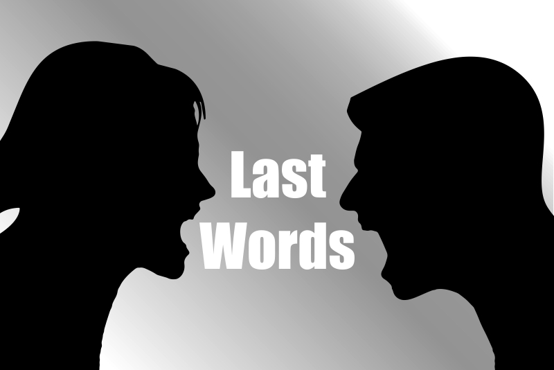 Fortune Cookie Friday: Last Words