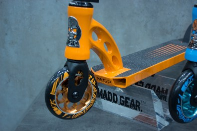 Front fork of the orange colorway.