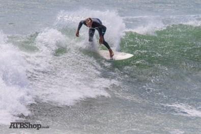Surfing the shore break