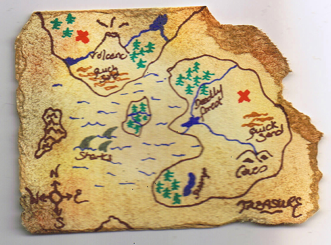 Treasure Map And Cake Ideas And Designs