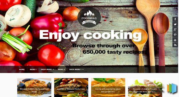 تحميل قالب Cuisine مجانا اتش تي ام ال لمواقع الطبخ