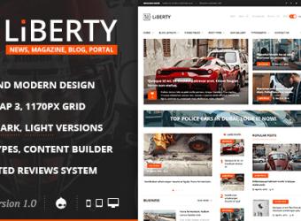 تحميل قالب Liberty News مجانا للمدونات دروبال