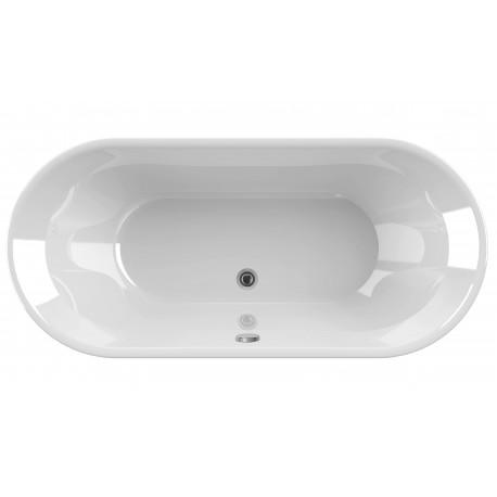 baignoire ilot modele luigia 176 5x80x59 cm en acrylique de marque aquarine