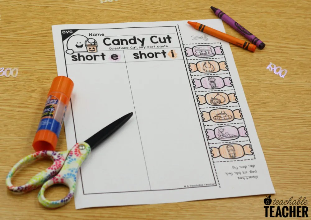 Halloween CVC Words Worksheets & Activities