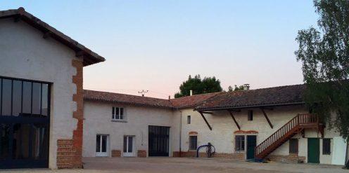 rénovation corps de ferme à Lapeyrouse