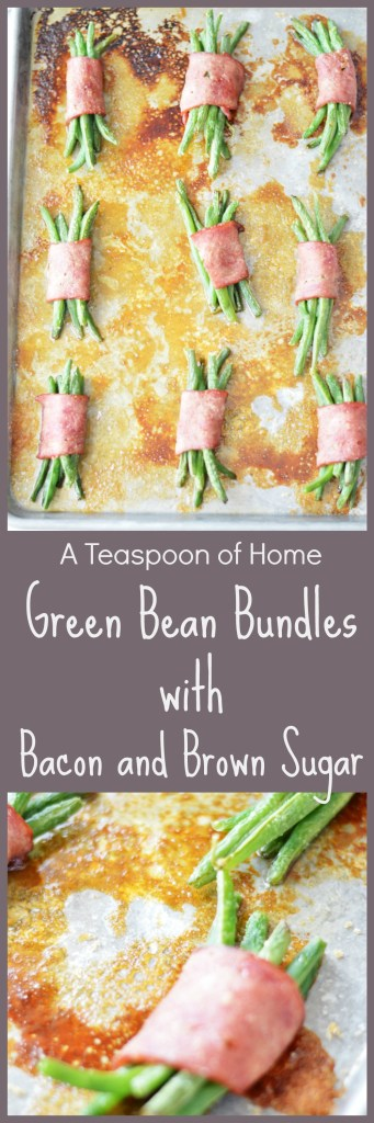 Green Bean Bundles with Bacon and Brown Sugar by A Teaspoon of Home