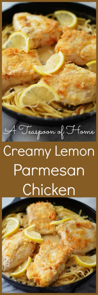 Creamy Lemon Parmesan Chicken by A Teaspoon of Home