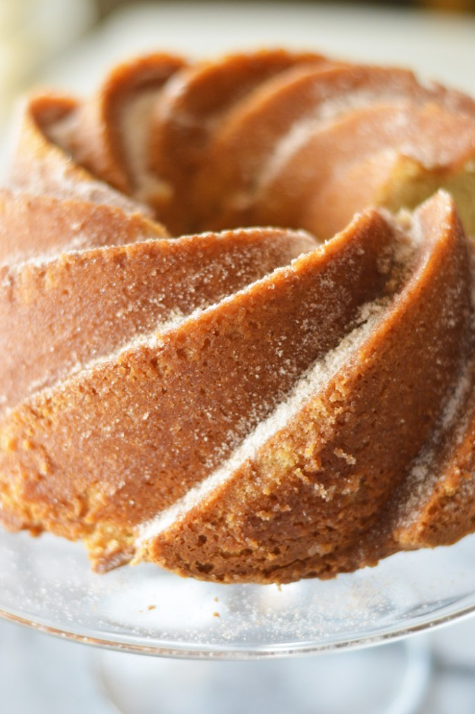 Churro Bundt Cake with Chocolate by A Teaspoon of Home