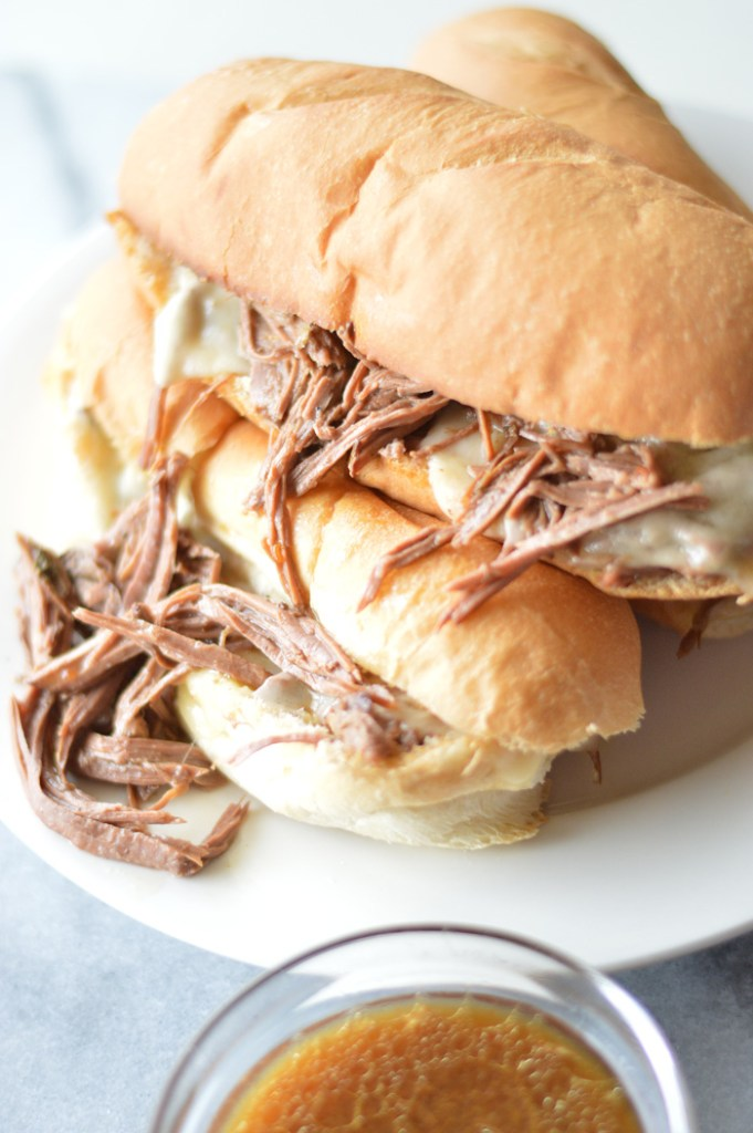 Fabulous Slow Cooker French Dip Sandwiches by A Teaspoon of Home