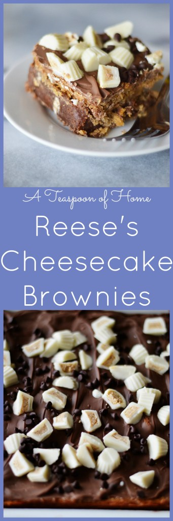Reese's Cheesecake Brownies by A Teaspoon of Home