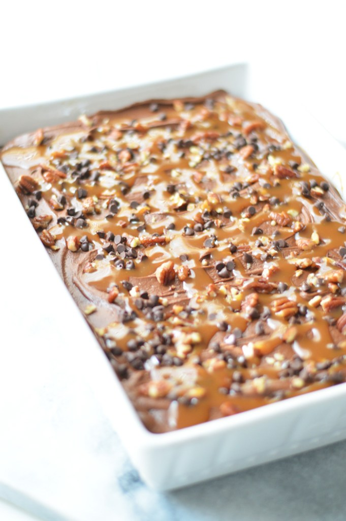 Chocolate Caramel Turtle Brownies by A Teaspoon of Home