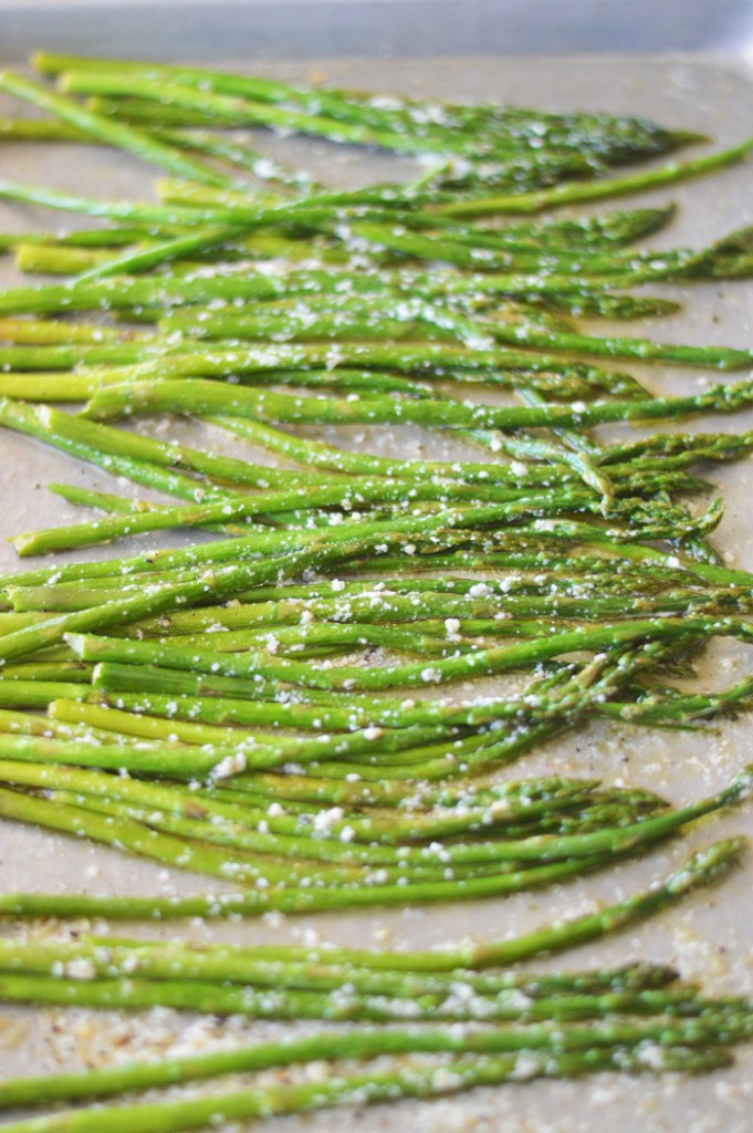 Roasted Lemon Garlic Parmesan Asparagus by a Teaspoon of Home